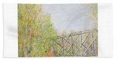 Fall Foliage And Bridge In Nh Beach Sheet