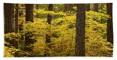 Beach Towel featuring the photograph Fall Foliage by Belinda Greb