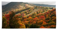 Fall Foliage On Canon Mountain Nh Beach Sheet