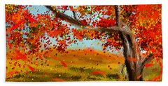Fall Impressions Beach Towel