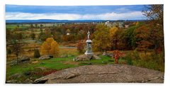 Fall In Gettysburg Beach Towel by Amazing Photographs AKA Christian Wilson