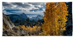 Fall In The Eastern Sierra Beach Towel by Cat Connor