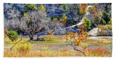 Fall In The Texas Hill Country Beach Towel by Savannah Gibbs
