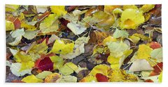 Fall Leaves Beach Sheet by Jennifer Muller