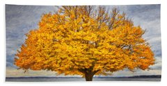 Fall Linden Beach Towel by Verena Matthew