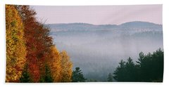 Fall Morning Beach Towel by David Porteus