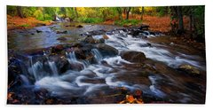 Beach Towel featuring the photograph Fall On Fountain Creek by Ronda Kimbrow