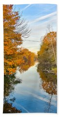 Fall On The Red Cedar  Beach Towel