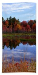 Fall Reflections Beach Sheet by Kerri Mortenson