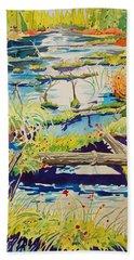 Fall River Scene Beach Sheet