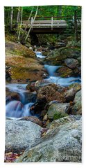 Beach Towel featuring the photograph Fall Scene In Nh by Mike Ste Marie