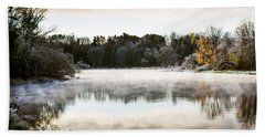 Fall Scene On The Mississippi Beach Towel