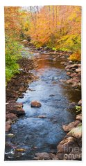 Fall Stream Beach Towel