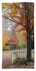 Fall Tranquility Beach Towel by Debbie Green