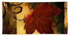 Fallen Leaf Beach Towel by Lourry Legarde