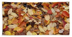 Beach Towel featuring the photograph Fallen Leaves by Dora Sofia Caputo Photographic Art and Design