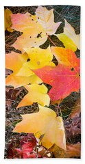 Fallen Leaves Beach Sheet