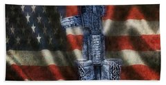 Fallen Soldiers Memorial Beach Towel by Peggy Franz