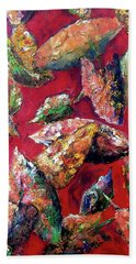 Falling Leaves Beach Towel