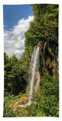 Falling Springs Falls Beach Towel