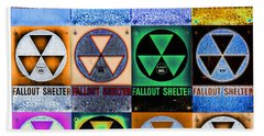 Fallout Shelter Mosaic Beach Sheet by Stephen Stookey