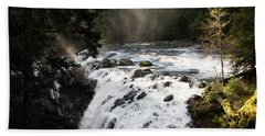 Waterfall Magic Beach Towel by Marilyn Wilson