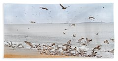 Family Flock  Beach Towel by Betsy Knapp