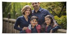 Family Portrait On Bridge - 1 Beach Sheet
