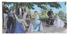 Family Reunion, 1867 Oil On Canvas Beach Towel