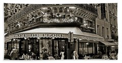 Famous Cafe De Flore - Paris Beach Towel