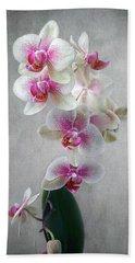 Fancy Orchids Beach Towel by Louise Kumpf