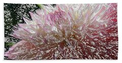 Beach Towel featuring the photograph Fantasy Dahlia by Denyse Duhaime