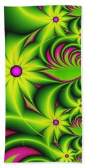 Beach Sheet featuring the digital art Fantasy Flowers by Gabiw Art