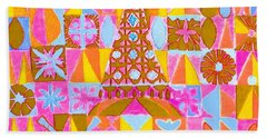 Beach Towel featuring the painting Fantasy In Form by Beth Saffer