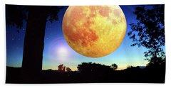 Fantasy Moon Landscape Digital Art Beach Towel