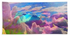Abstract Fantasy Sky Beach Towel