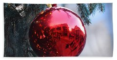 Faneuil Hall Christmas Tree Ornament Beach Towel