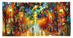 Farewell To Anger Beach Towel by Leonid Afremov