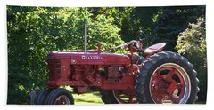 Farmall's End Of Day Beach Towel by Denyse Duhaime