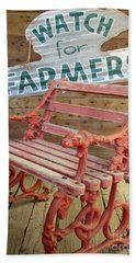 Farmer Bench Beach Towel