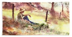 Farmers And Hunters Heaven Beach Towel
