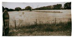 Beach Towel featuring the photograph Farming by Howard Salmon