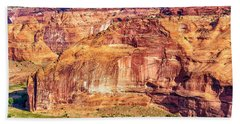 Farming In Canyon De Chelly Beach Sheet by Bob and Nadine Johnston
