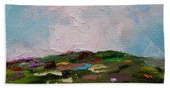Farmland Iv Beach Sheet by Judith Rhue
