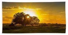 Farmland Sunset Beach Towel