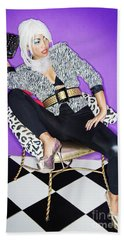 Fashion Girl 1 Beach Towel