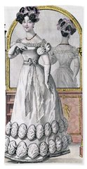 Fashion Plate Of A Lady In Evening Beach Towel