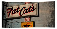 Fat Cat's Lounge Beach Towel