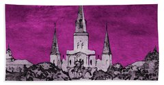 Fat Tuesday Eve Beach Towel