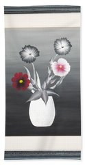 Faux Flowers II Beach Towel by Ron Davidson